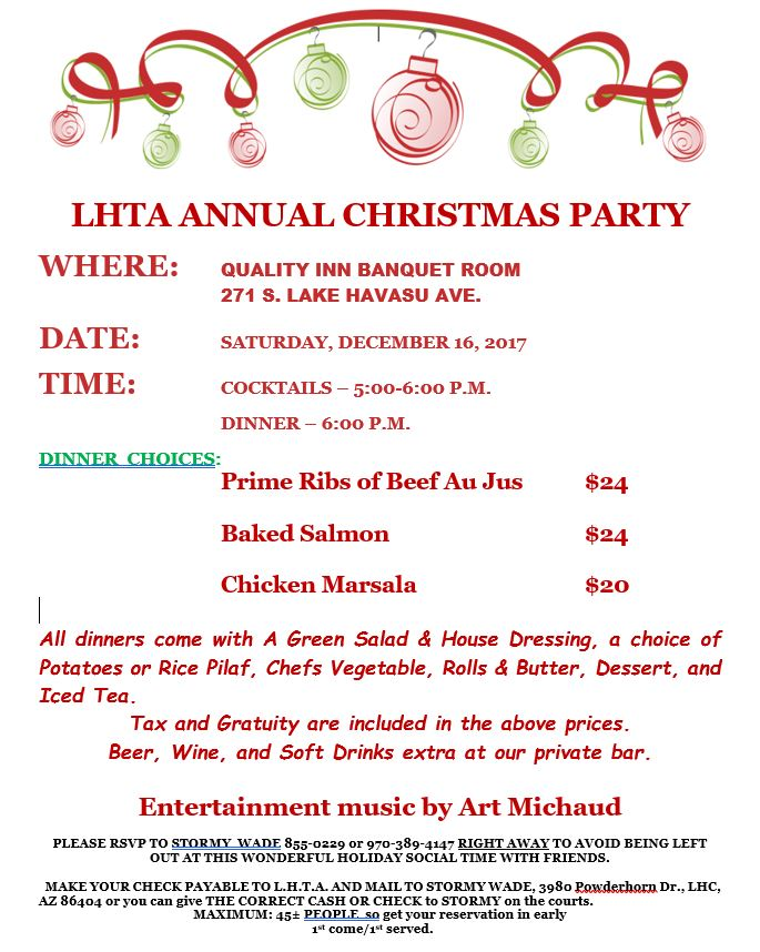 LHTA Christmas Party